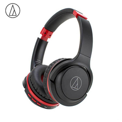 Original Audio Technica ATH-S200BT Bluetooth Earphone Music Wireless Folding Headphone With Remote Control With Microphone