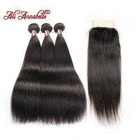ALI ANNABELLE HAIR Brazilian Straight Human Hair 100 Remy Hair Bundles Brazilian Hair 3 Bundles With