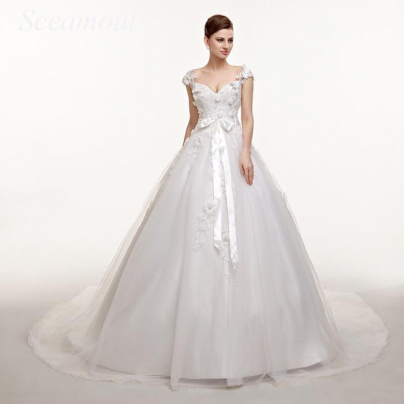 Ball Gown Wedding Dress Sweetheart Neckline Backless Appliques Wedding Gown Sequins Sleeveless Bridal Dresses avondjurk
