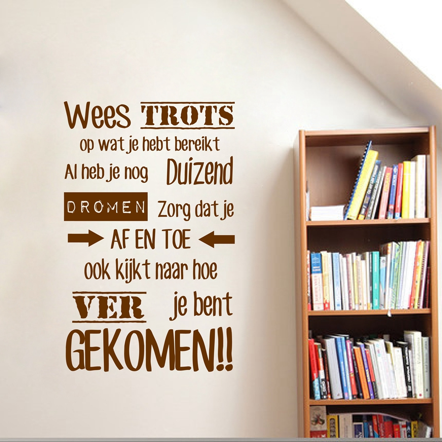 Dutch Inspirational Quotes Vinyl Wandtattoo Nederlands Home - Wohnkultur - Foto 4