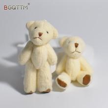 2017 New 3Pcs/Set Kawaii Teddy Bear Mini Dolls Kids Stuffed Animal Plush Toys Flower Bouquets Bear For Wedding Christmas Gift