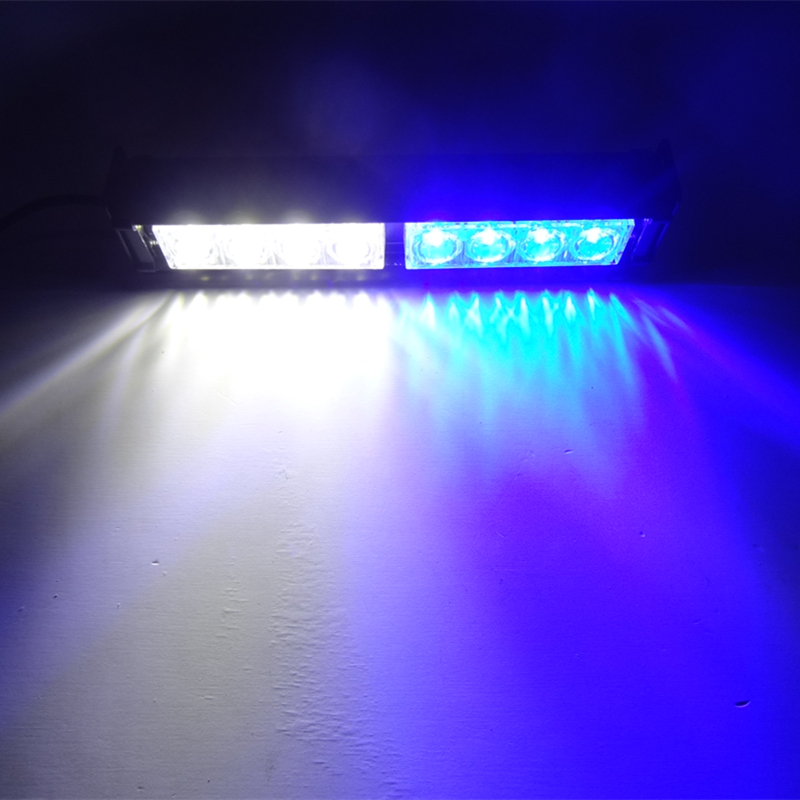 Car-styling 8W 12V Car Light LED Flash Strobe Lights/Automobile 8LED Strobe Warning Lights/Red Blue Strobe Lightbars for Car Car