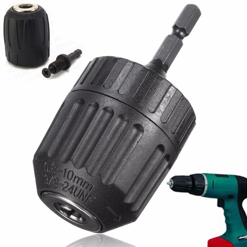 1PC 0.8-10mm Keyless Mini Drill Chuck Adaptor Converter 3/8
