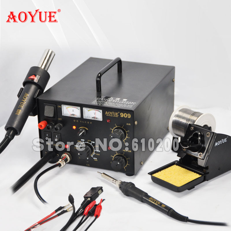 aoyue 909 3 in 1 hot air gun soldering station soldering iron dc power supply. Black Bedroom Furniture Sets. Home Design Ideas