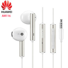 Huawei écouteur am116 casque micro 3.5mm pour HUAWEI P7 P8 P9 Lite P10 Plus Honor 5X 6X Mate 7 8 9 smartphone(China)