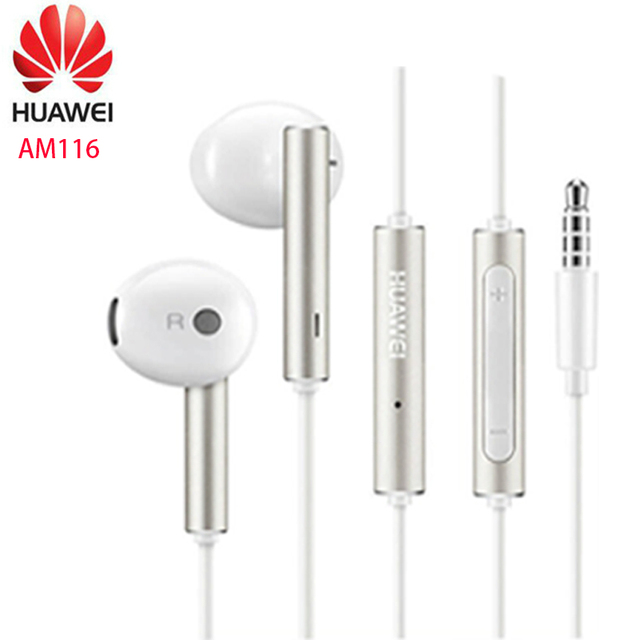 Huawei Earphone am116 Headset Mic 3.5mm for HUAWEI P7 P8 P9 Lite P10 Plus Honor 5X 6X Mate 7 8 9 smartphone