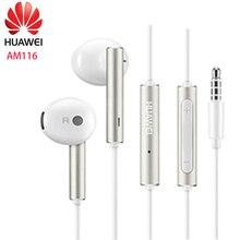 Huawei אוזניות am116 אוזניות מיקרופון 3.5mm עבור HUAWEI P7 P8 P9 לייט P10 בתוספת כבוד 5X 6X Mate 7 8 9 smartphone
