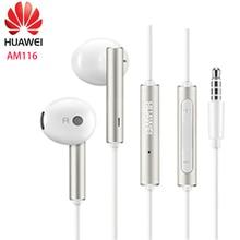Huawei słuchawki am116 zestaw słuchawkowy Mic 3.5mm dla HUAWEI P7 P8 P9 Lite P10 Plus Honor 5X 6X Mate 7 8 9 smartphone