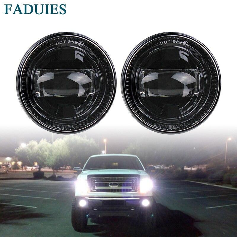 FADUIES LED Fog Lights For Ford F150 Fog lights Ford special LED front bumper fog lights round modified fog lights front fog lights l