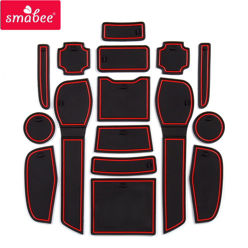 Smabee Anti-Slip Gate Slot Mat For Nissan Qashqai 2019 Rogue Interior Accessories Rubber Cup Holders Non-slip Mats Coaster