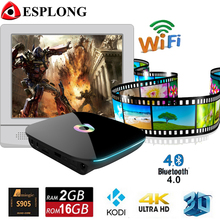Hot Sale Q box Amlogic S905 Android 5.1 TV Box 2GB 16GB Bluetooth 4.0 Smart IPTV Box 2.4/5GHz WiFi Media Player