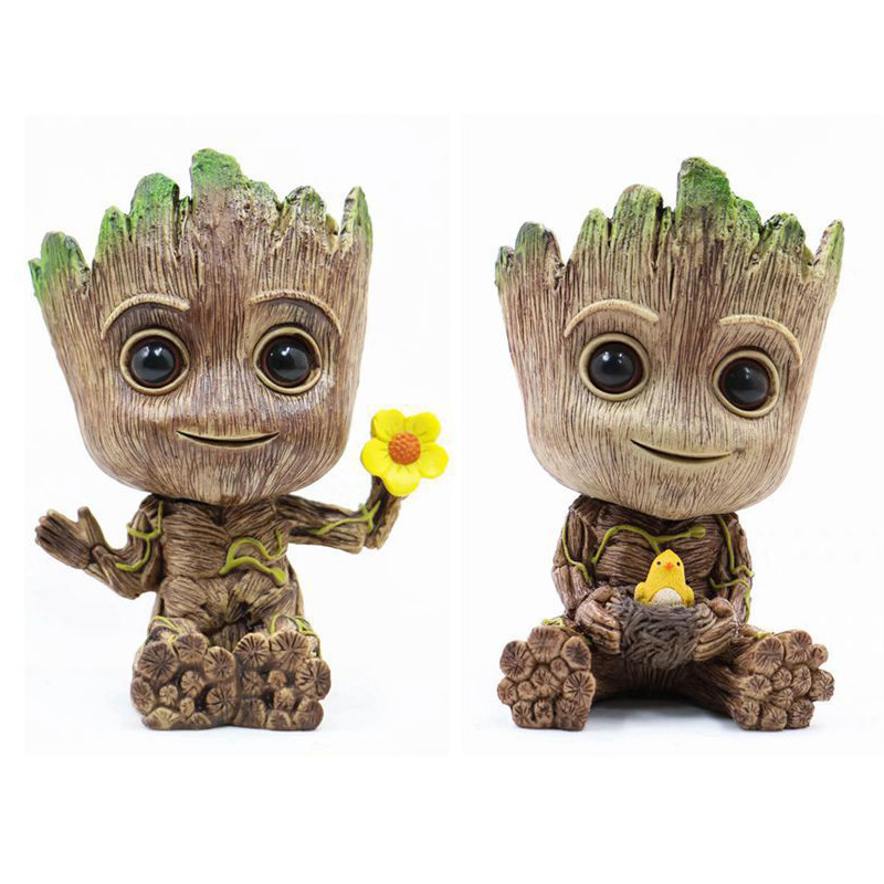 Action-Figures Collection Guardians Anime Galaxy Toy-Gifts of Grooting-Flowerpot The