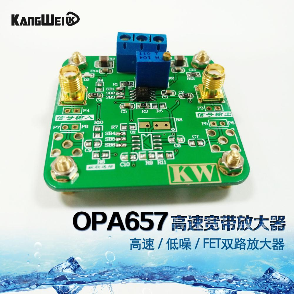 OPA657 module high speed broadband amplifier with high speed and low noise FET dual channel amplifier