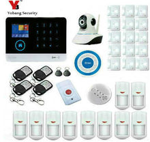 Yobang Security Wireless Home Security WIFI GSM GPRS Alarm system APP Remote Control RFID card with Wireless Smoke Detector