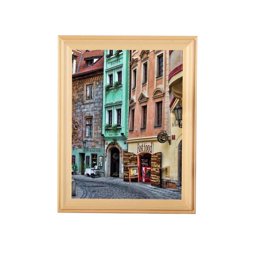 Kleinen Bilderrahmen Verschiedene Größen Beige Holz Bilderrahmen ...