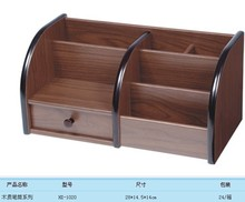Wooden business card holder pen holder Канцелярские получать случай, HX-1020