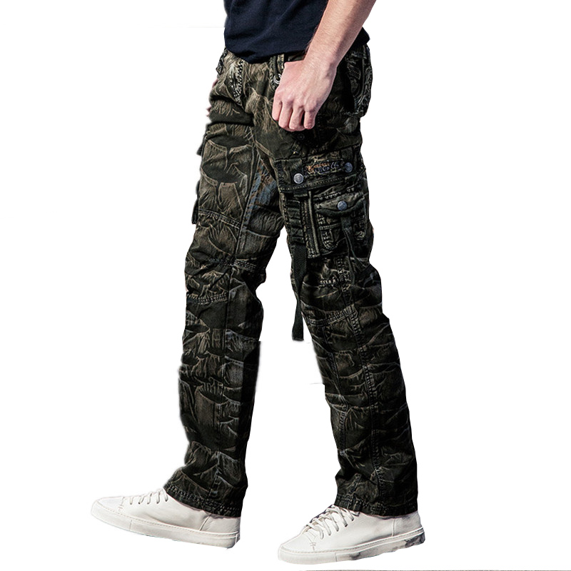 2017 Summer camouflage tactical pants War Game Cargo pants mens trousers Army military Pants Overalls Long Trousers for man 40
