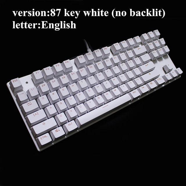 33fb84e69eb Metoo Edition Mechanical Keyboard 87 keys Blue Switch Gaming ...