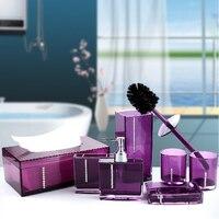 Экологически чистый акрил Наборы для ванной семь штук Ванная комната товары для дома Decration Best выбор для подарка