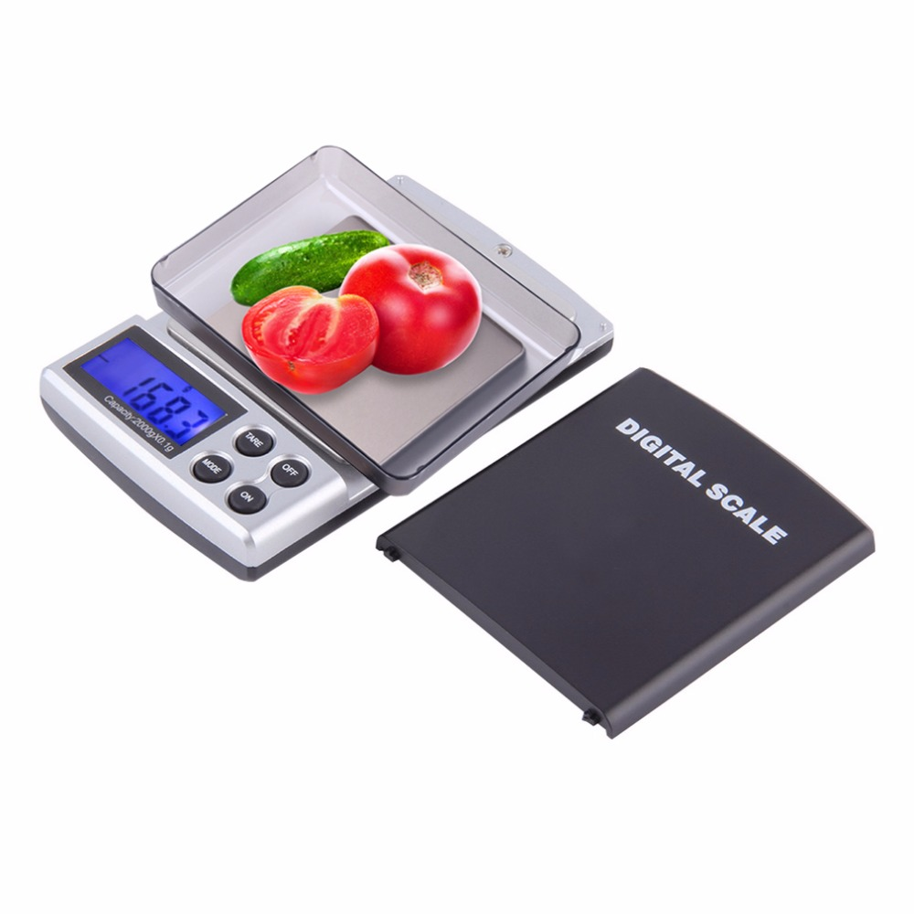 1pc 2000gx01g pocket electronic digital jewelry scale weighing kitchen scales grams balance lcd display weighing scales from home