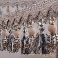 15m Four Feet Bead Tassel Lace Curtain Trimmings Fringes Hanging Trim Sofa Curtains Accessories Decor