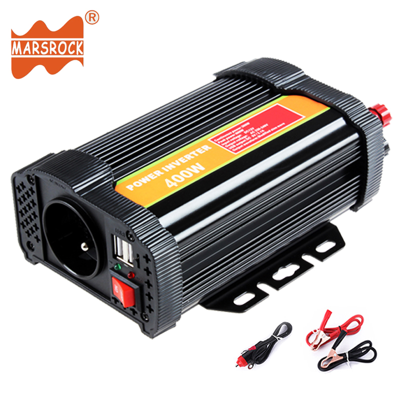 цена на 400W Modified Sine Wave Solar Power Inverter 12V 24V DC to 110V 220V AC Off Grid with Dual USB Port Charger for Car Home Use