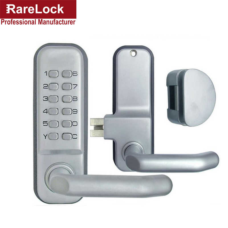 Rarelock Christmas Supplies Mechanical Combination Door Lock Deadbolt Glass Door Digital Keyless Password Non-Power Locks