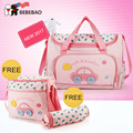 4 PCS/SET New 2017 brand Diaper Bag Fashion multifunctional large capacity Waterproof Nappy Bags,women backpack,Mummy Baby Bag