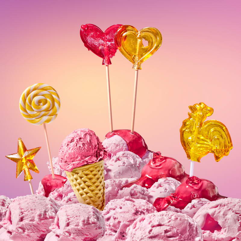 icecream candy theme pink photography studio background Vinyl cloth High quality Computer print wall backdrop