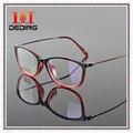 Quadro TR90 ultrafina de Metal pernas óculos de armação mulheres miopia Retro homens óculos limpar Lens óculos Oculos de Grau DD0769