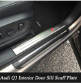 Interior Do Carro de Aço inoxidável do Peitoril Da Porta Scuff Placa Pad Carro Limiar guardas Sills Para Audi Q3 2013 2014 2015 2016 Estilo Do Carro