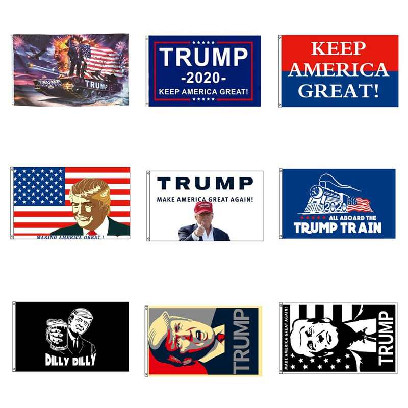 Home Decor Flag Trump 2020 For President Re-election Keep Make America Great Again Usa Flags 3x5 Ft Support Banner Free Shipping