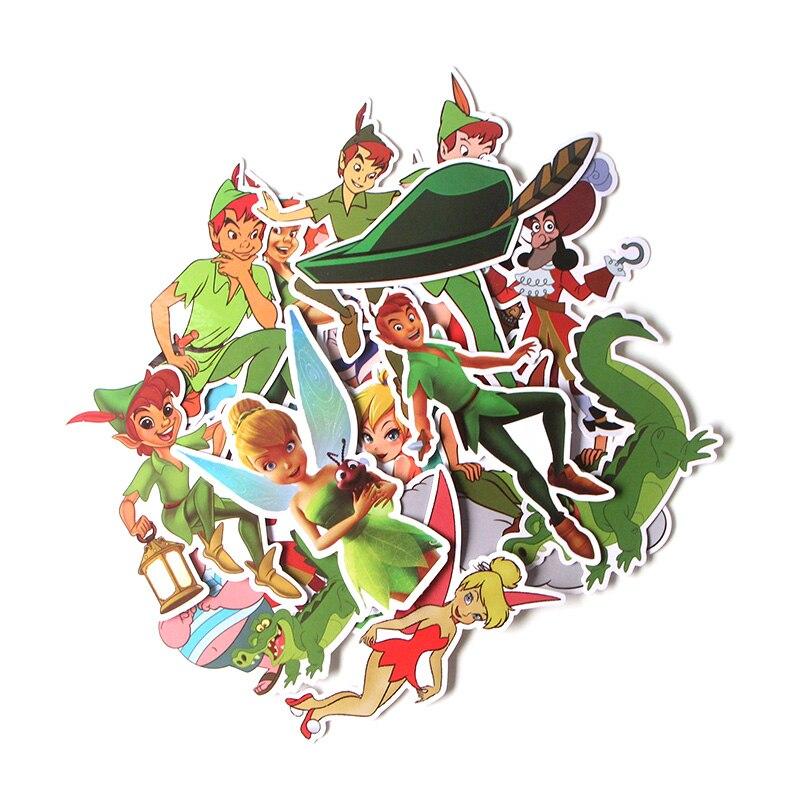 19 Pcs/set DMLSKY Peter Pan Funny album sticker decals pvc Scrapbooking for phone luggage laptop Notebook DIY Acessories M3422