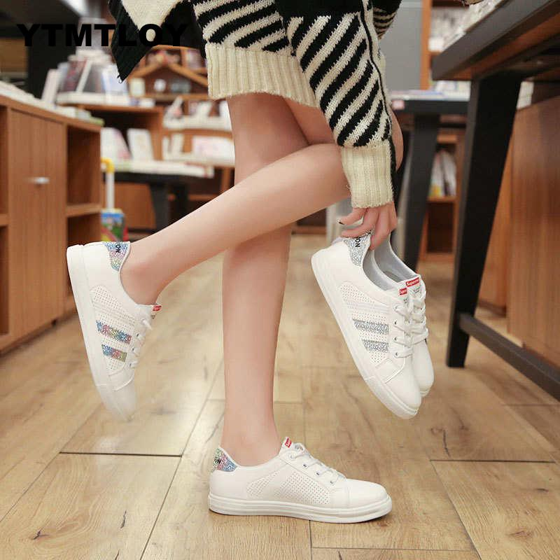 HOT 2019 Women Sneakers Fashion Breathble Vulcanized Shoes Pu leather Platform Casual WhiteTrainers Sexemara Tenis  BlingHOT 2019 Women Sneakers Fashion Breathble Vulcanized Shoes Pu leather Platform Casual WhiteTrainers Sexemara Tenis  Bling