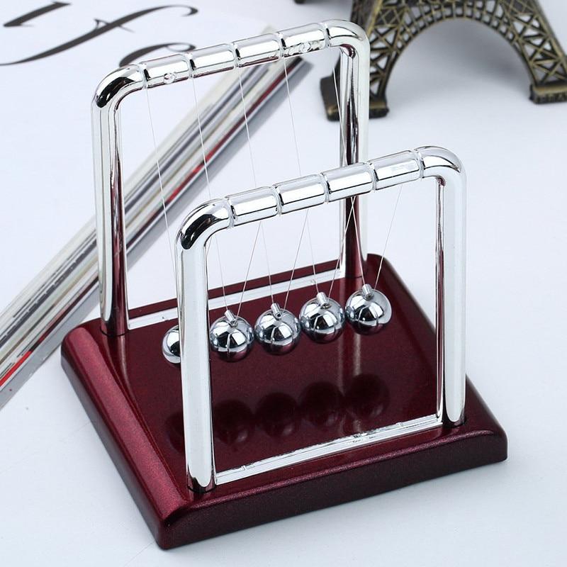 Early Fun Development Educational Desk Toys Gift Newtons Cradle Steel Balance Ball Physics Science Pendulum