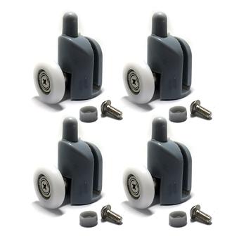 Wysokiej jakości rolki drzwi prysznicowych biegaczy 25mm wymiana koła kółko do rolki drzwi prysznicowych 4PC tanie i dobre opinie Prysznic ekranu Plac Ze stopu Aluminium ze stopu Aluminium bottom -4pcs Zawias Electroplate Z tworzywa sztucznego Prostokąt