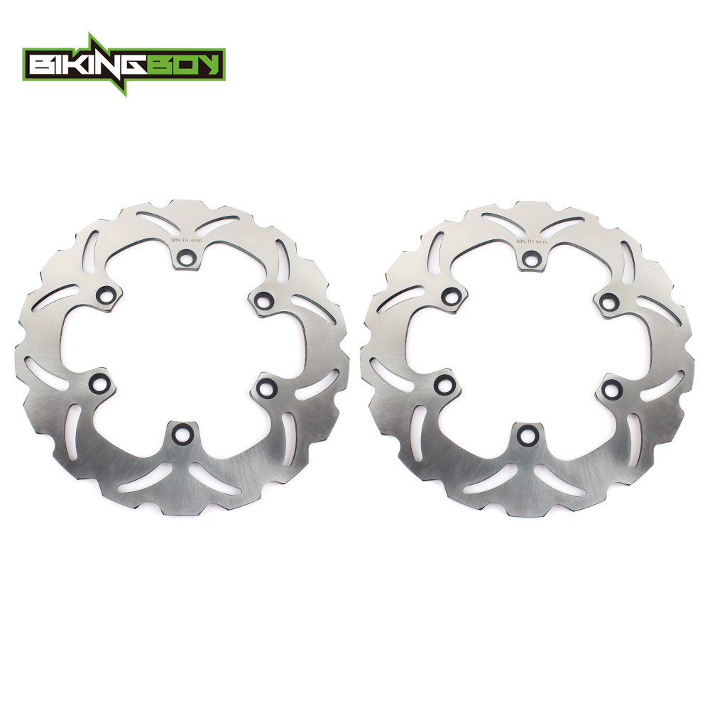 BIKINGBOY Front Brake Discs Disks Rotors For Kawasaki ZX 400 600 ZX400 ZX600 ZX750GPZ GPZ 500