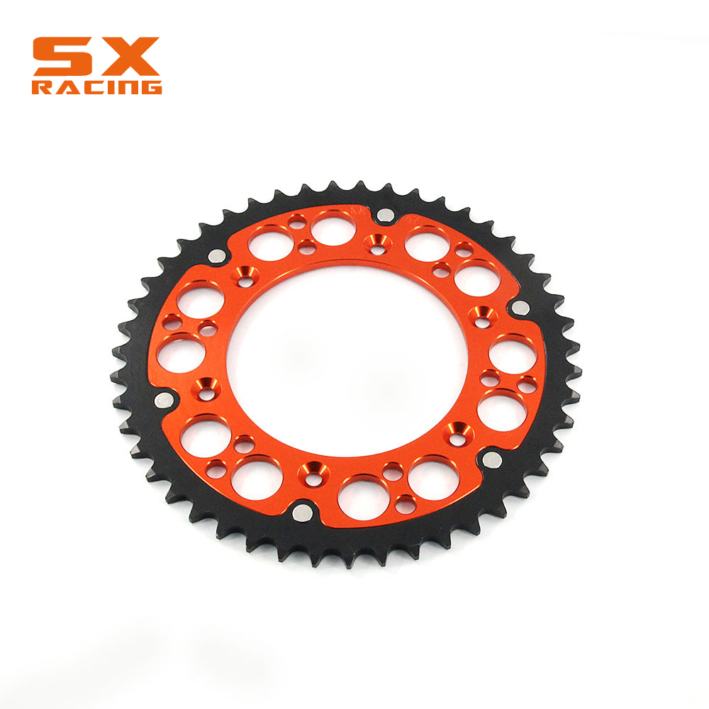 Motorcycle 44T 47T 48T 49T 51T 52T Steel Engine Part Rear Sprocket Chain For KTM EXC EXCF XC XCF XCW XCFW SX SXF SXS SMR SMC LC4 orange 120l chain front rear sprockets set for ktm exc excf sx sxf sxs xc xcw xcf xcfw mx mxc lc4 smr six days motocross enduro