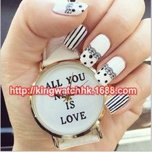 ALL YOU NEED IS LOVE Aztec Print Watch Younger Sport Girls Low cost Informal Gown Wristwatch Trend College students Lovers Watches