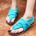O envio gratuito de sandálias sapatos mulher sandalias planas candals estudante cor envoltório tornozelo sapatos zapatos mujer 2016 new style mulheres AA282