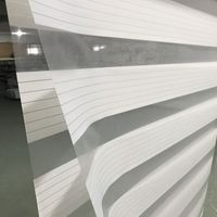Custom Cut to Size Horizontal Window Shade Blind Zebra Dual Roller Blinds & Treatments Window Curtains for Living Room White