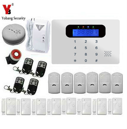 YobangSecurity Russian/Spanish/French /Italian/Czech/Portuguese Wireless GSM GPRS TFT Color Screen Home Security System Alarm yobangsecurity russian spanish french italian czech portuguese alarm gsm sms home burglar security wireless gsm alarm system
