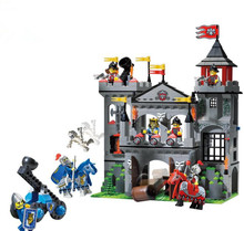 Medieval Eagle Lion Castle Kingdoms Tower Model knights Building Blocks Compatible with LegoINGly Bricks Toy for Children