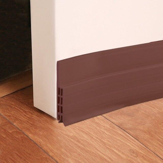 Merveilleux 1M Silicone Self Adhesive Bottom Door Window Seal Draft Dust Blocker Strip  Under Door Guard