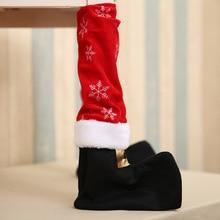 Just 1pcs 2018 Table Leg Chair Foot Covers Xmas Party Decoration Navidad Xmas Funny Christmas Table Decor New Year Holiday Favor