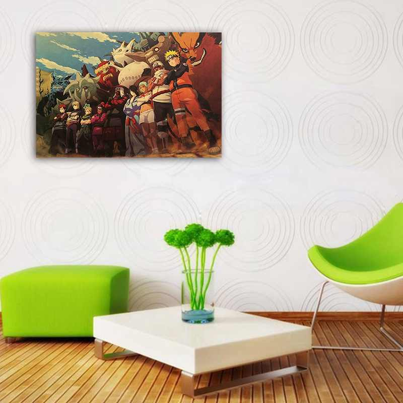 Nuevo juego de Anime Shippuden póster arte tela de seda impresión 51x35cm Sasuke pared imagen habitación Decoración