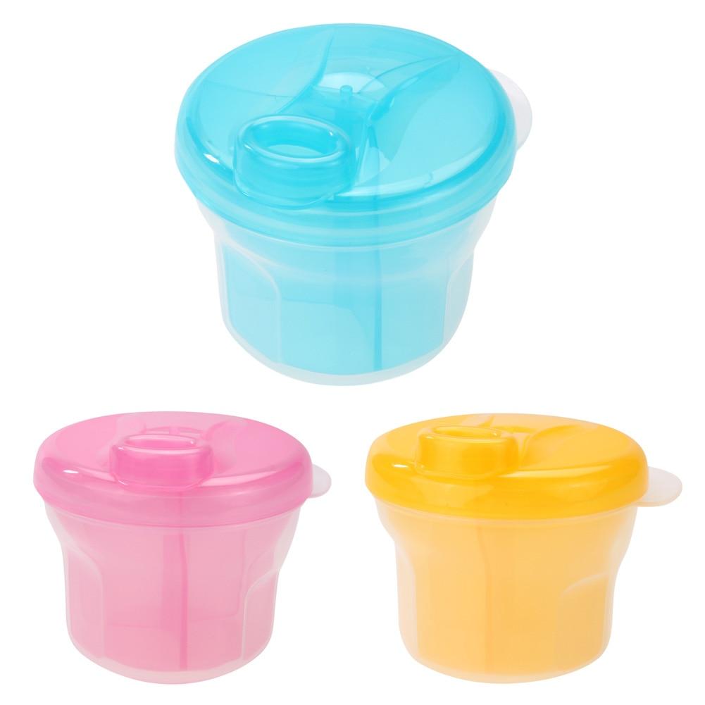 Neue Ankunft Tragbare Baby Infant Feeding Milchpulver Flasche Container 4 Schichten Grid Box Zufällige Farbe Reise Aufbewahrungsbox Produkte Aufbewahrung Von Säuglingsmilchmischungen