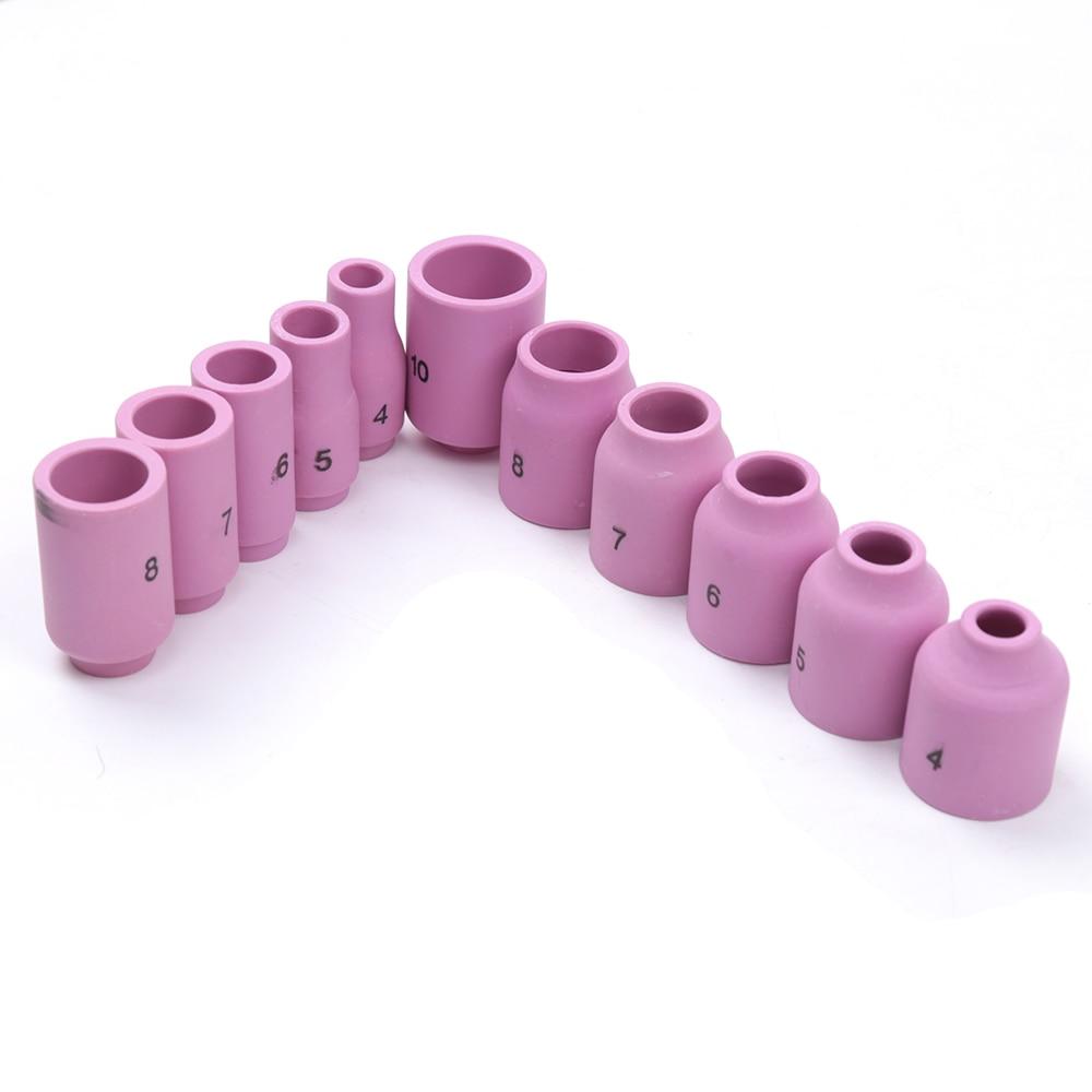 46Pcs TIG Welding Torch Set Gas Lens Collet Body Assorted Size Fit SR WP9 20 25
