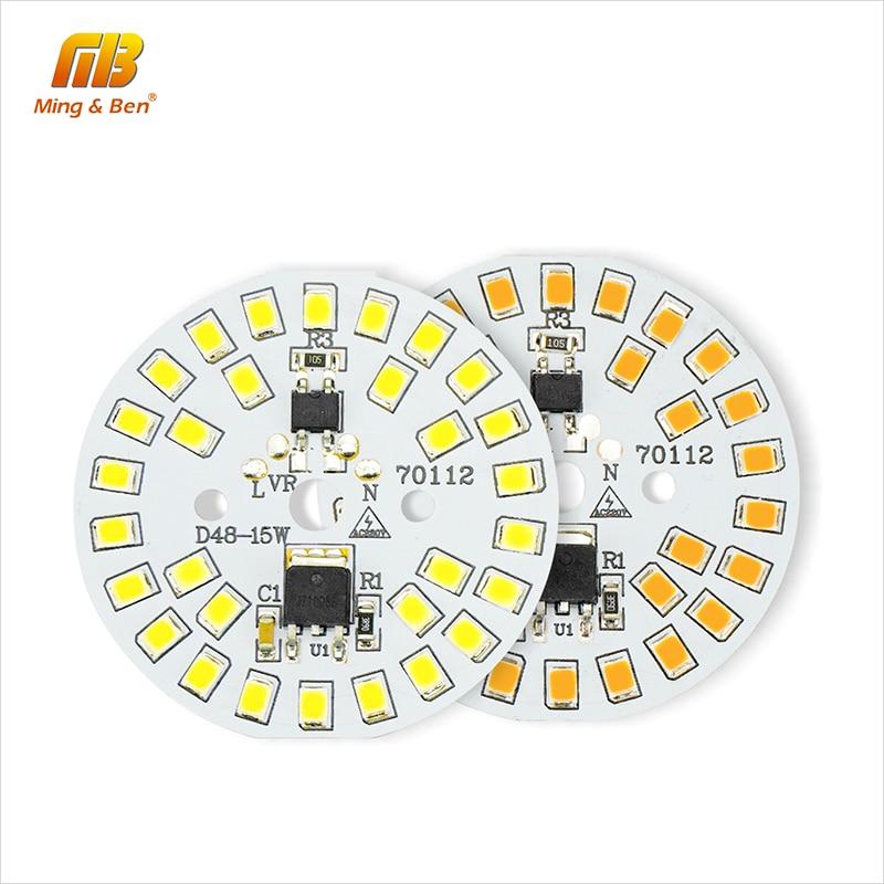 DIY LED Light Bulb 15W 12W 9W 7W 5W 3W SMD2835 LED Chip Beads 220V Smart IC LED Chip For Bulb Light Spotlight Outdoor Floodlight