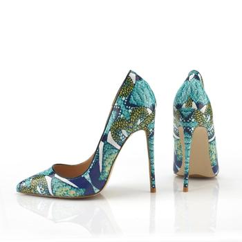 2019 New Fashion free shipping greenleather python snake Poined Toes Stiletto Heel high heels shoes pump HIGH-HEELED SHOES